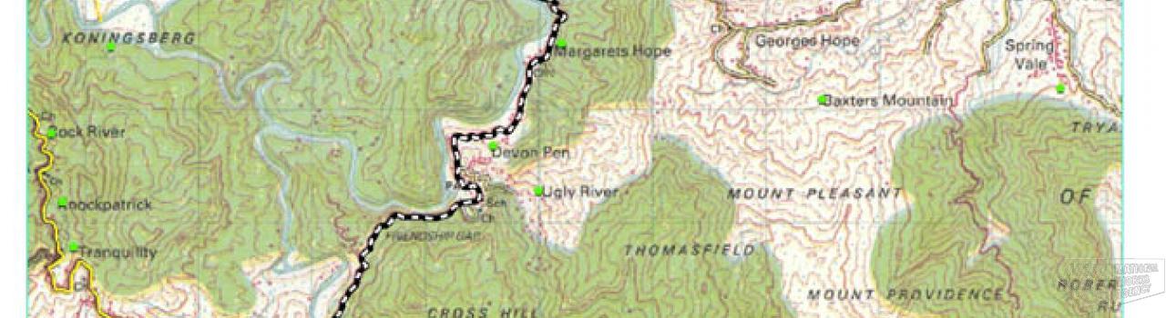 Agualta Vale - Tom's River Map