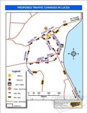 National Traffic Map.National Works Agency To Address Traffic Congestion In Lucea